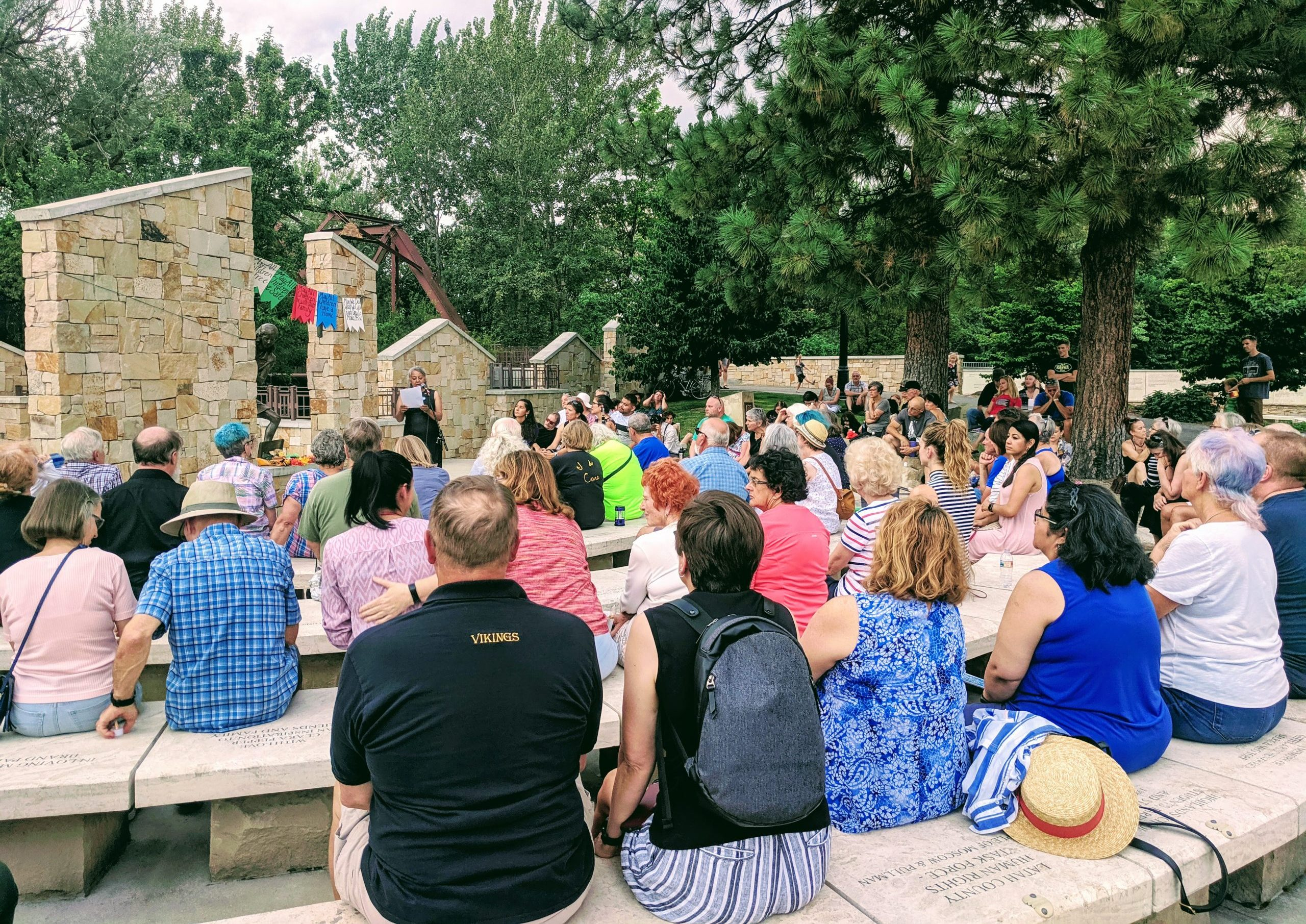 Lights for Liberty event at Anne Frank Memorial in Boise, Idaho